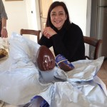 Anna with her big egg