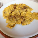 Agnolotti with porcinis