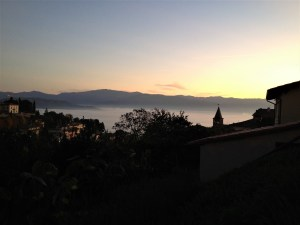 Sunrise over Anghiari on our last day