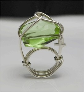 Green Stone Simply Mist Ring