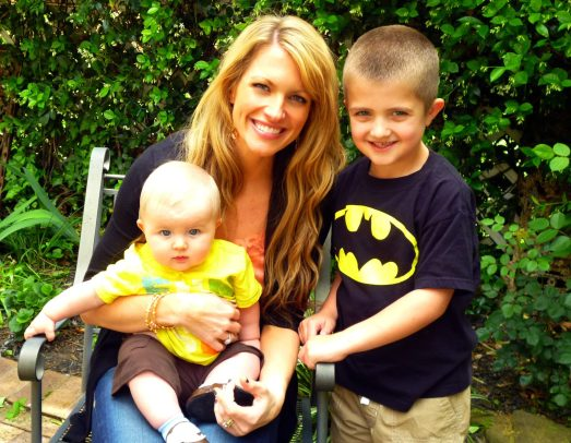 Laura with her two sons! Count Me Healthy bangles for mom.