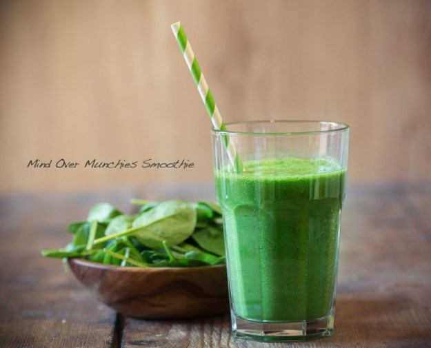 Drinking this Mind over Munchies (MOM) smoothie has a host of benefits, especially pre-dinner.