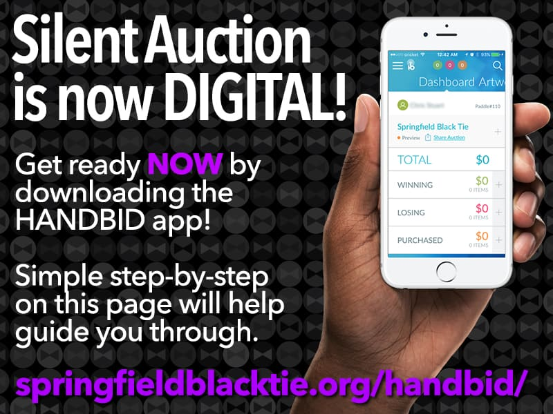 Silent Auction is now DIGITAL! Springfield Black Tie