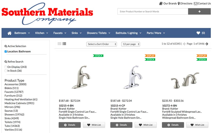 Make Your Wish-List at Southern Materials Online - NEW!