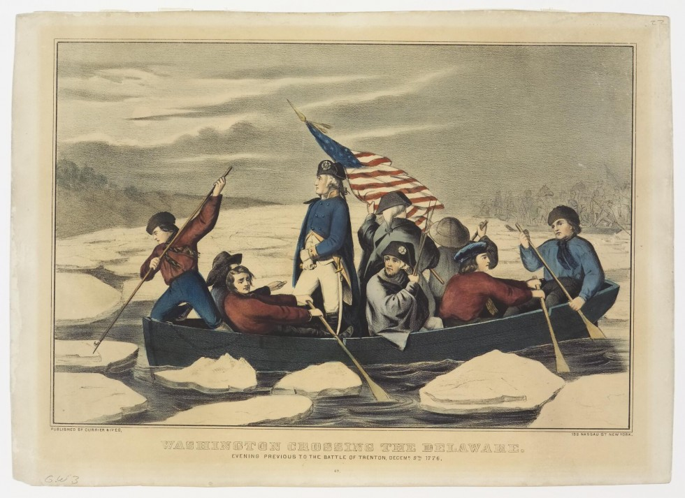 Washington Crossing the Delaware, Currier  Ives Springfield Museums