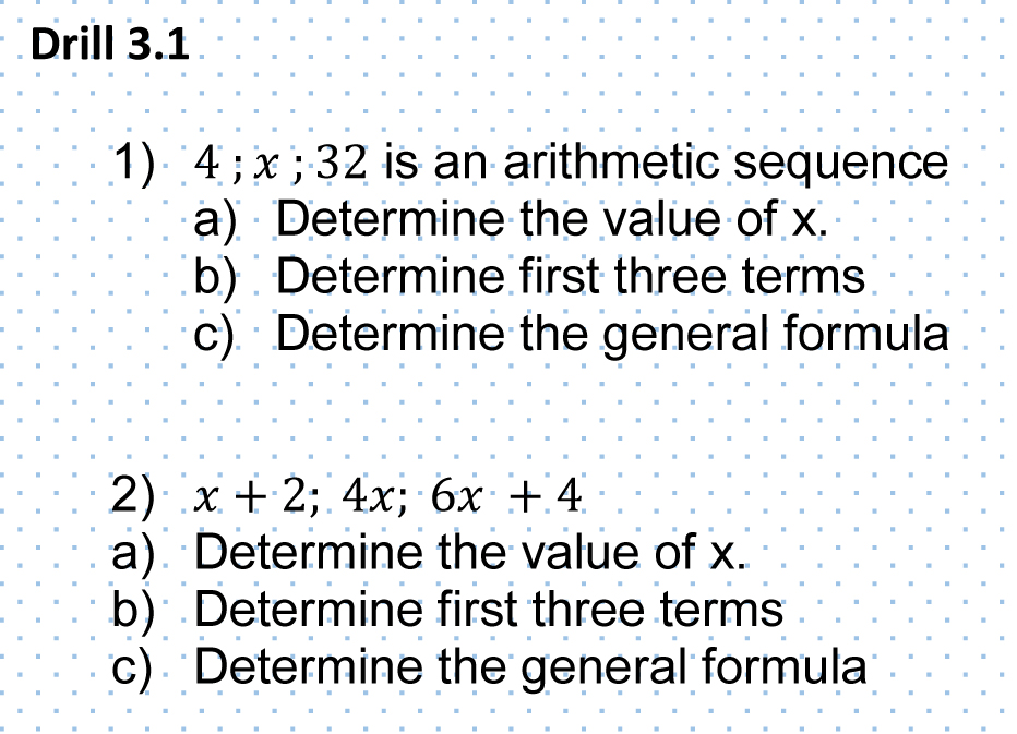 Grade 12s learning about Arithmetic and geometric sequences