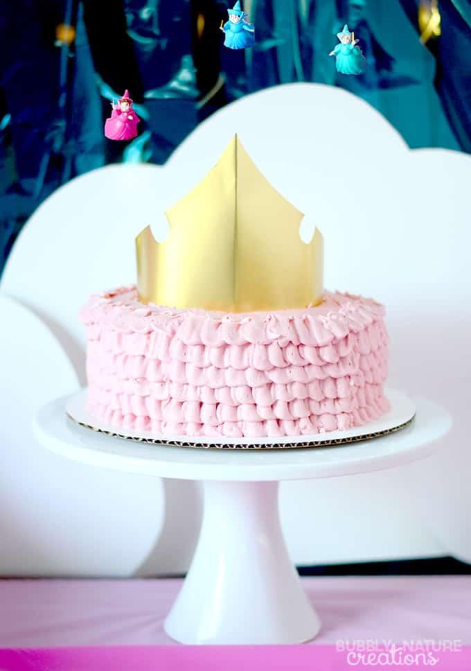 Sleeping beauty princess slumber party cake