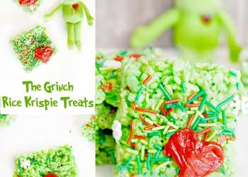 """The Grinch"" Rice Krispie Treats"