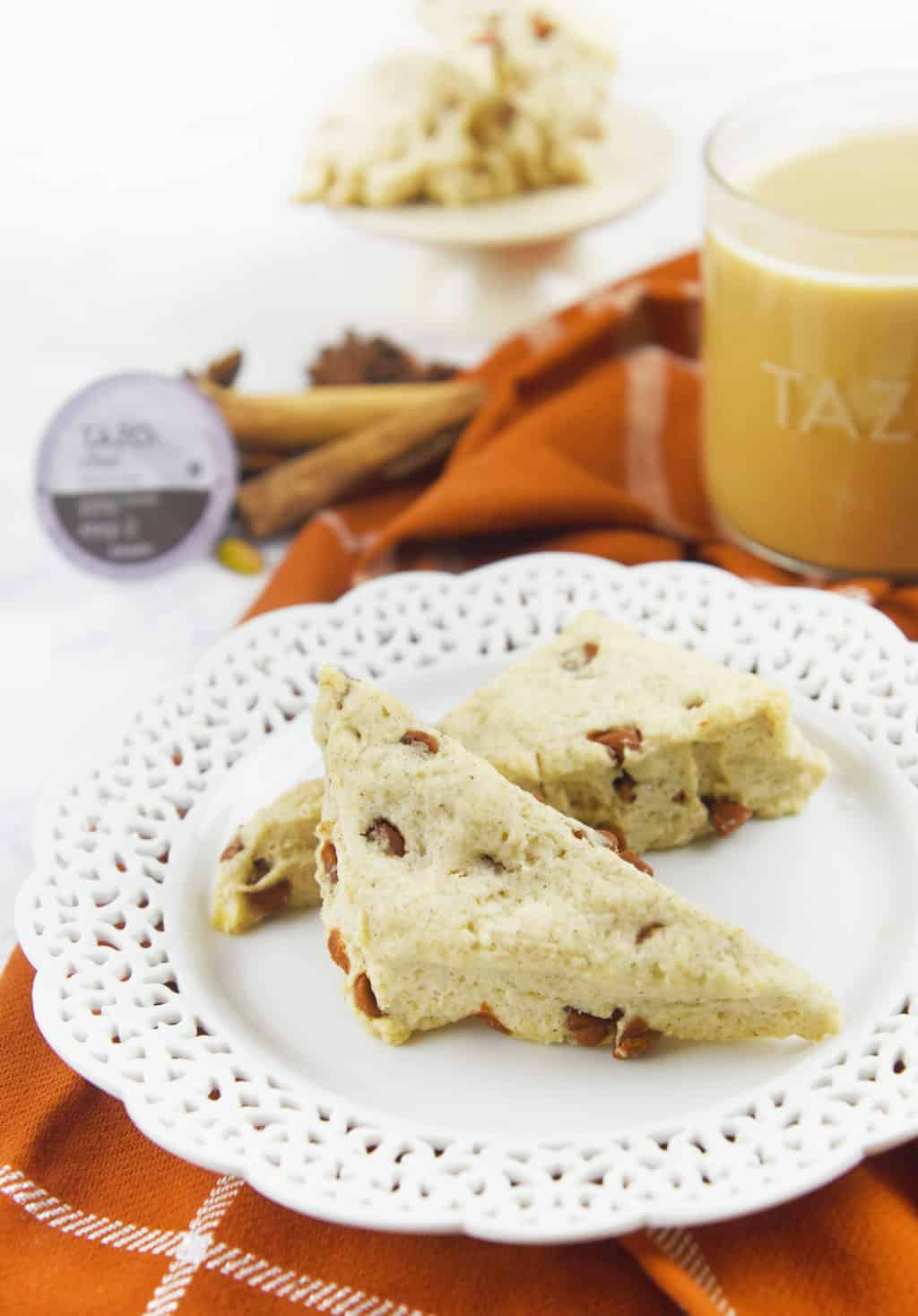 paired up the TAZO® Chai Latte with these Sweet Cinnamon Scones ...