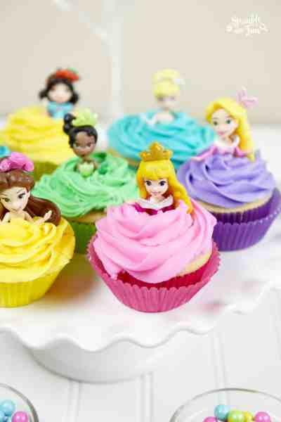 Disney Princess Doll Cupcakes
