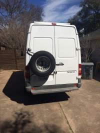 Rear door mounted Spare Tire Carrier - Sprinter Camper