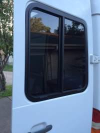 Sliding windows for the rear doors - Sprinter Camper