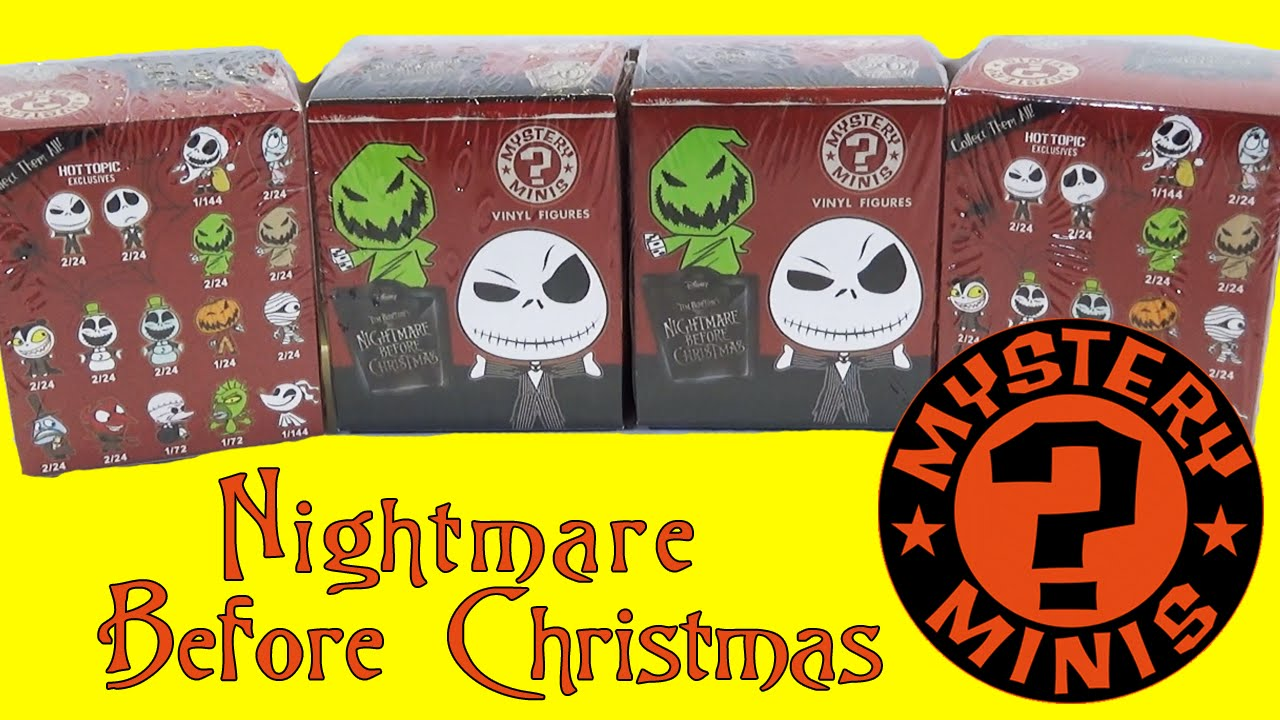 Nightmare Before Christmas Mystery Minis Blind Box Opening