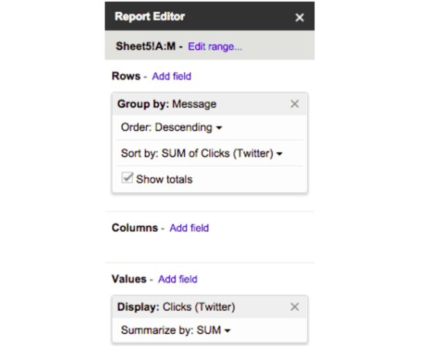 report editor example