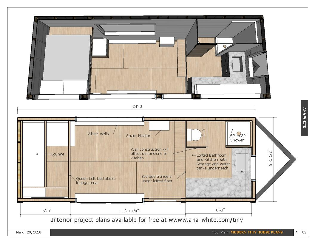Tiny House With Garage Plans Open Concept Rustic Modern Tiny House Framing Shell Spruc D Market