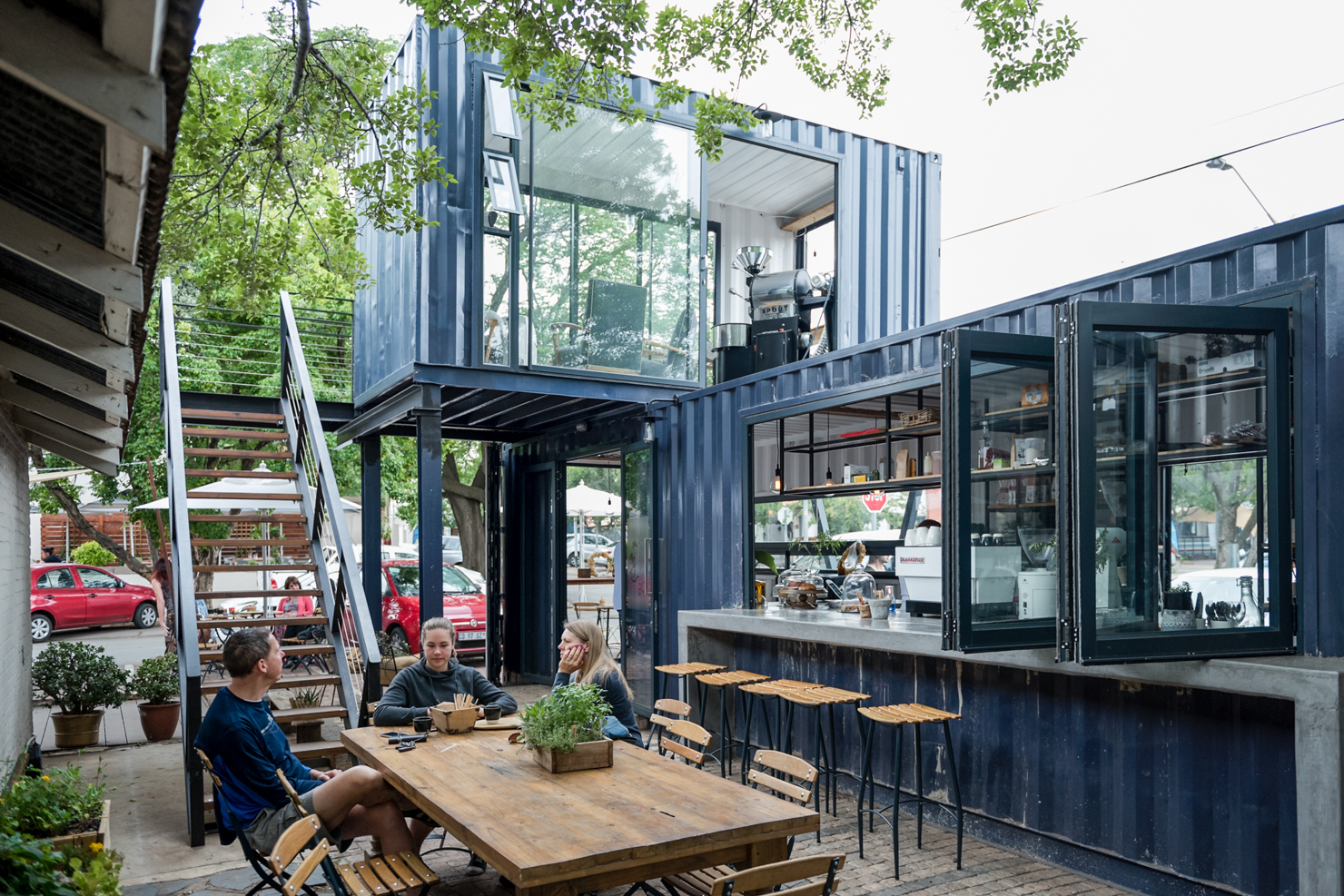 Green Cuisine Cafe Spout Coffee A Modern Container Coffee Shop In Pretoria