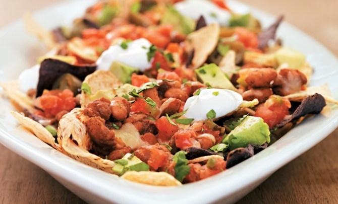 smoky-bean-baked-nachos-health-appetizer-snack-mexican-spry