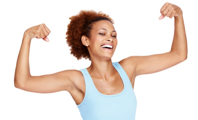 "Exercises to tone underarm ""batwings""."