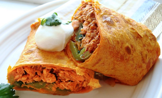 Spicy Salmon Wraps recipe.