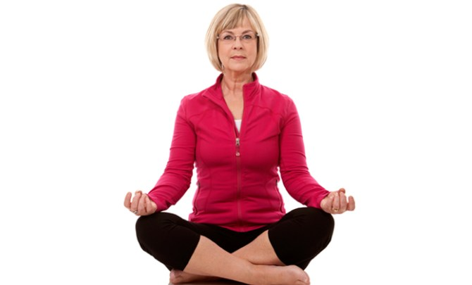 Yoga poses for seniors to do with a chair.