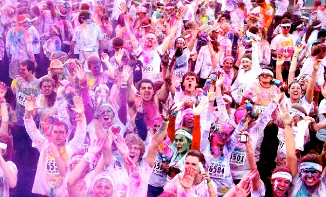 The Color Run is a fun 5K.