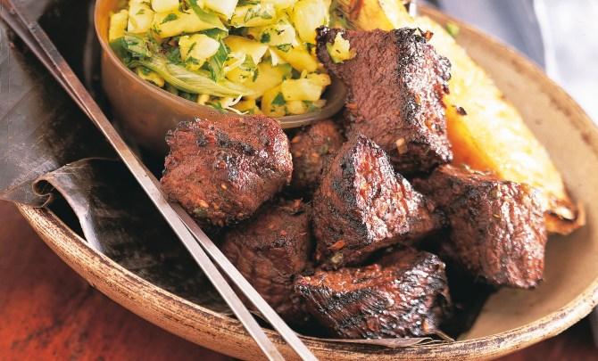 Jerk Steak Kabobs