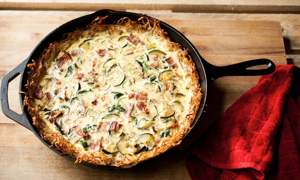 Hash Brown-Crusted Quiche