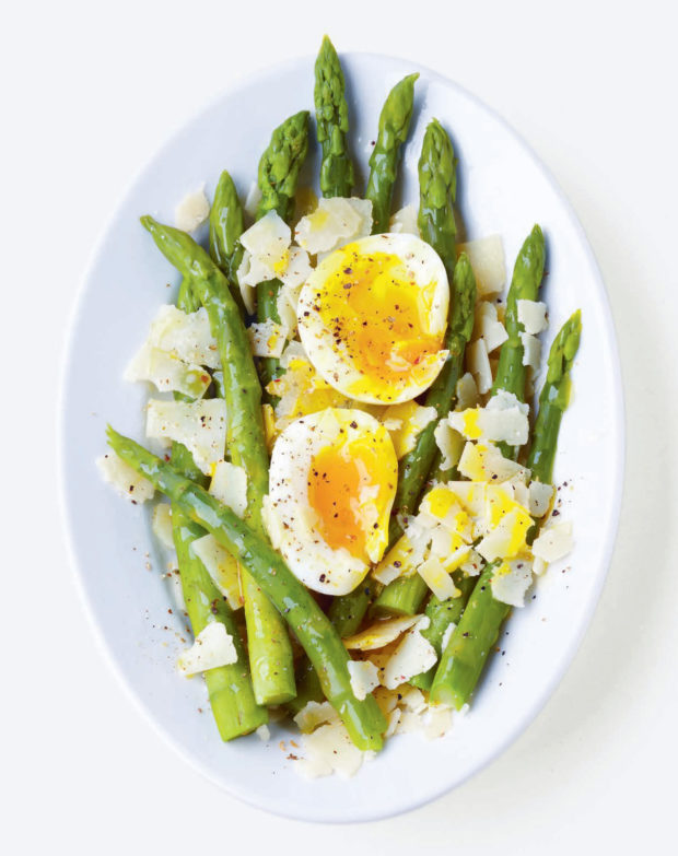 Asparagus, Parmesan and Soft-Boiled Eggs