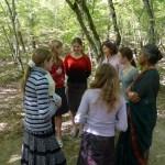 With Tekos school students, Gelendzik, Russia 2009