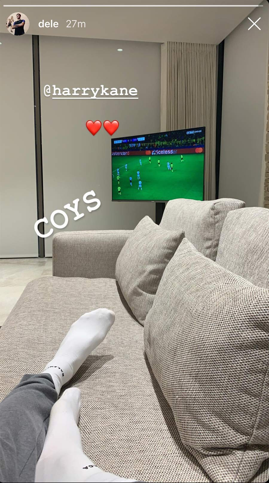 Sofa Dortmund Photo What Dele Alli Said On Social Media After Spurs Beat
