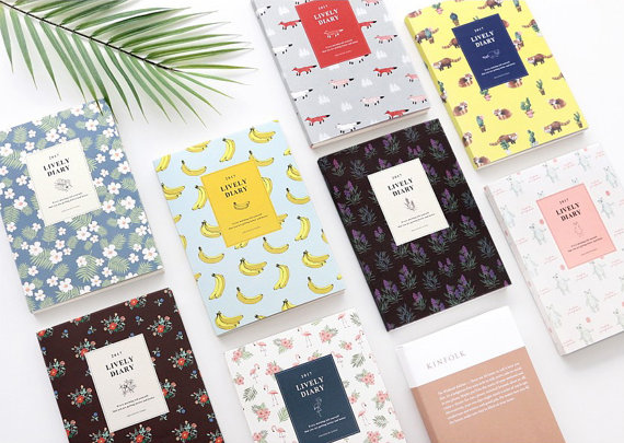 10 Design Concepts For Your 2017 Yearly Planner - diary design