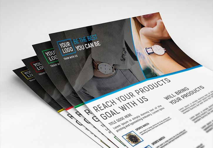 Collection of 30 Free Flyer Mockup Designs - product flyer