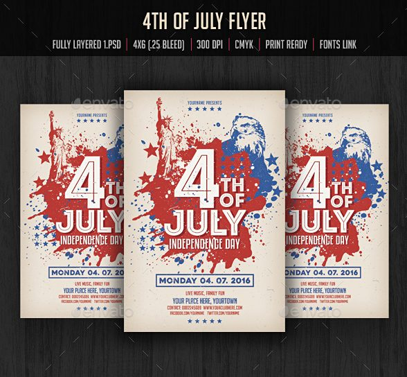 10 Independence Day Flyer and Ad Design Templates - independence day flyer