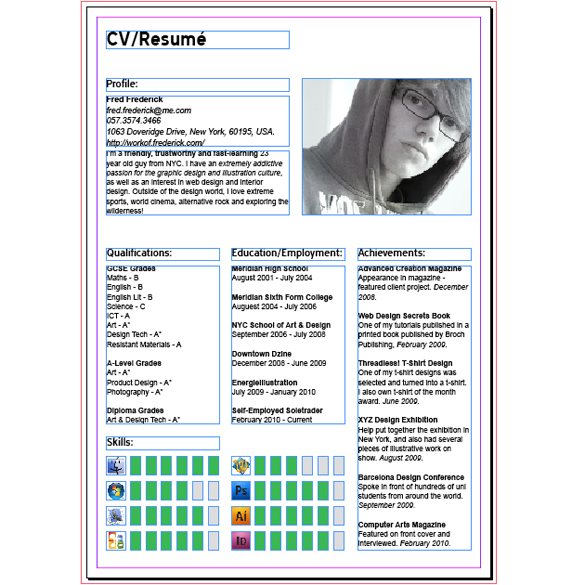 How To Create A Modern CV/Resumé With InDesign - SpyreStudios