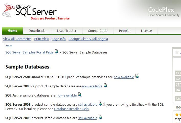 Download and Install AdventureWorks Sample Database