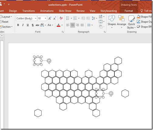 Making hexagons in powerpoint