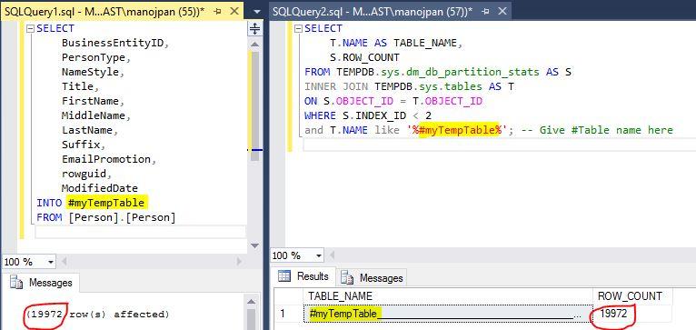 Temporary Tables SQL with Manoj