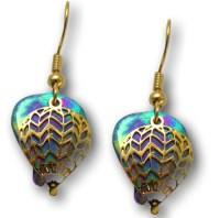 Medium Dbl Niobium Hot Air Balloon Earrings