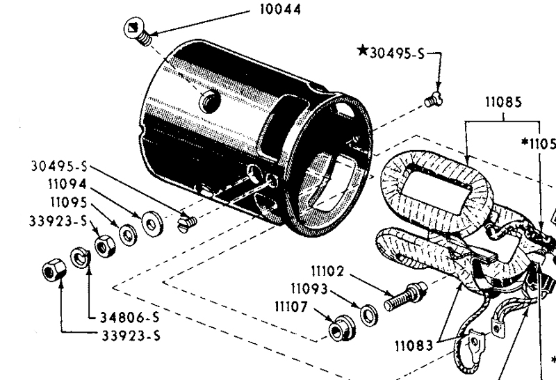 circuit in a typical electric vehicle with a series dc motor and