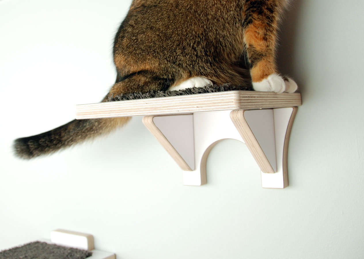 Modern Cat Shelves Hawthorne Cat Climbing Shelf Cat Stairs For Wall