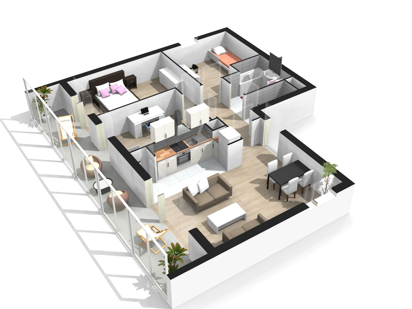 Simulation Appartement Simulation Appartement 3d Beautiful Oncevoir Ma Cuisine