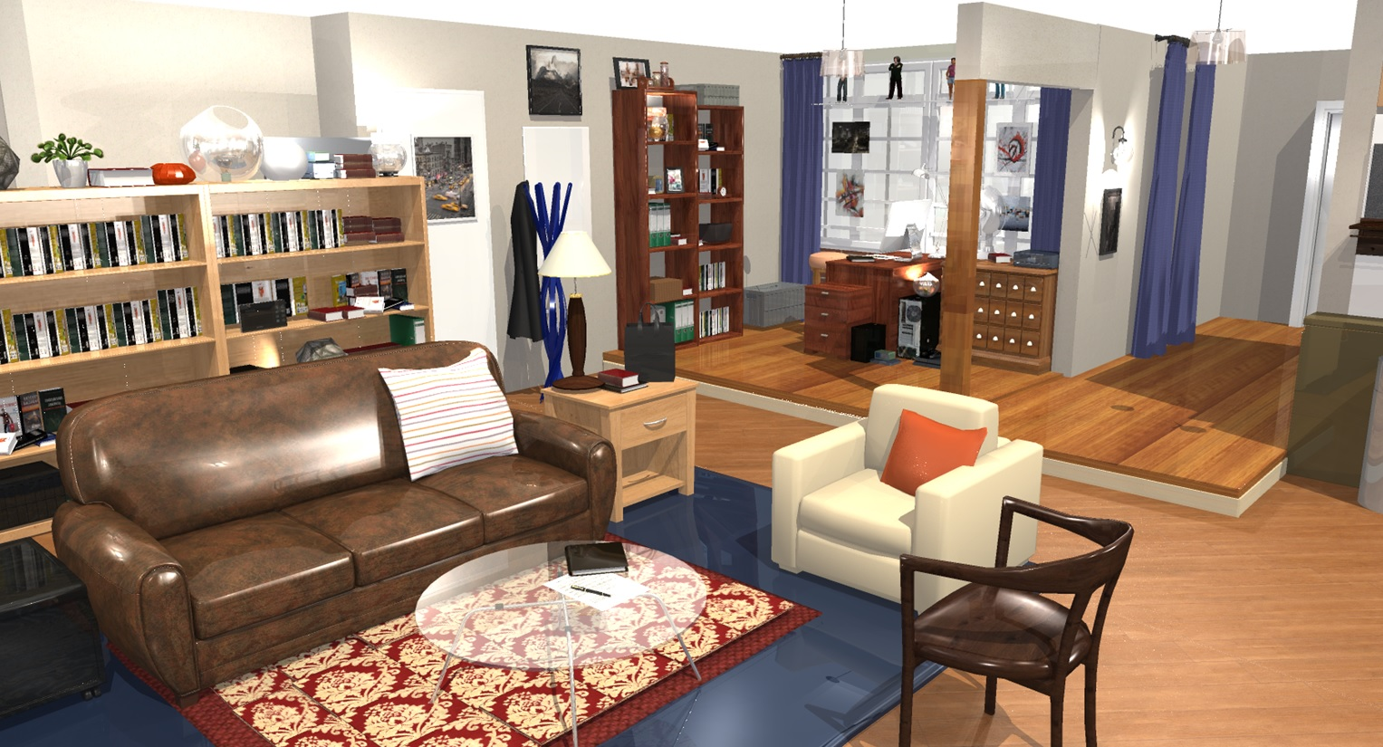 Wohnung Designen The Big Bang Theory Wohnung In 3d Homebyme