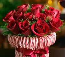 Christmas Centerpiece: Candycane Roses