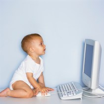 Baby Using Computer