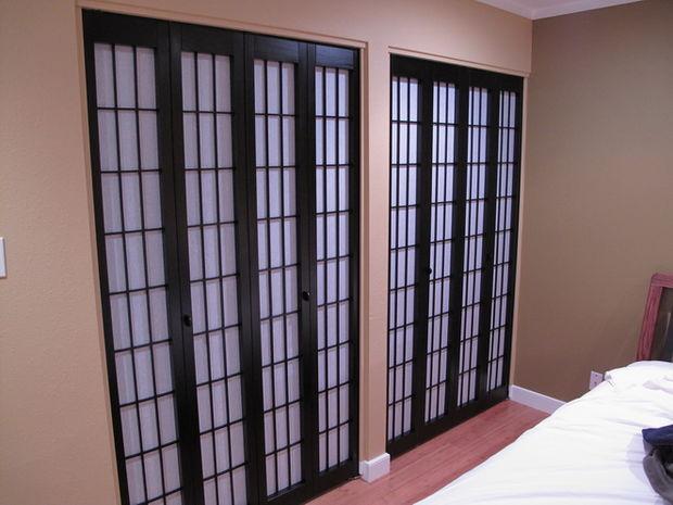 Shoji Closet Doors : Diy shoji style closet doors more square pennies