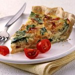 Spinach and Bacon Quiche Photo: Better Homes and Gardens