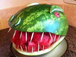 Carve a Watermelon: T-Rex!