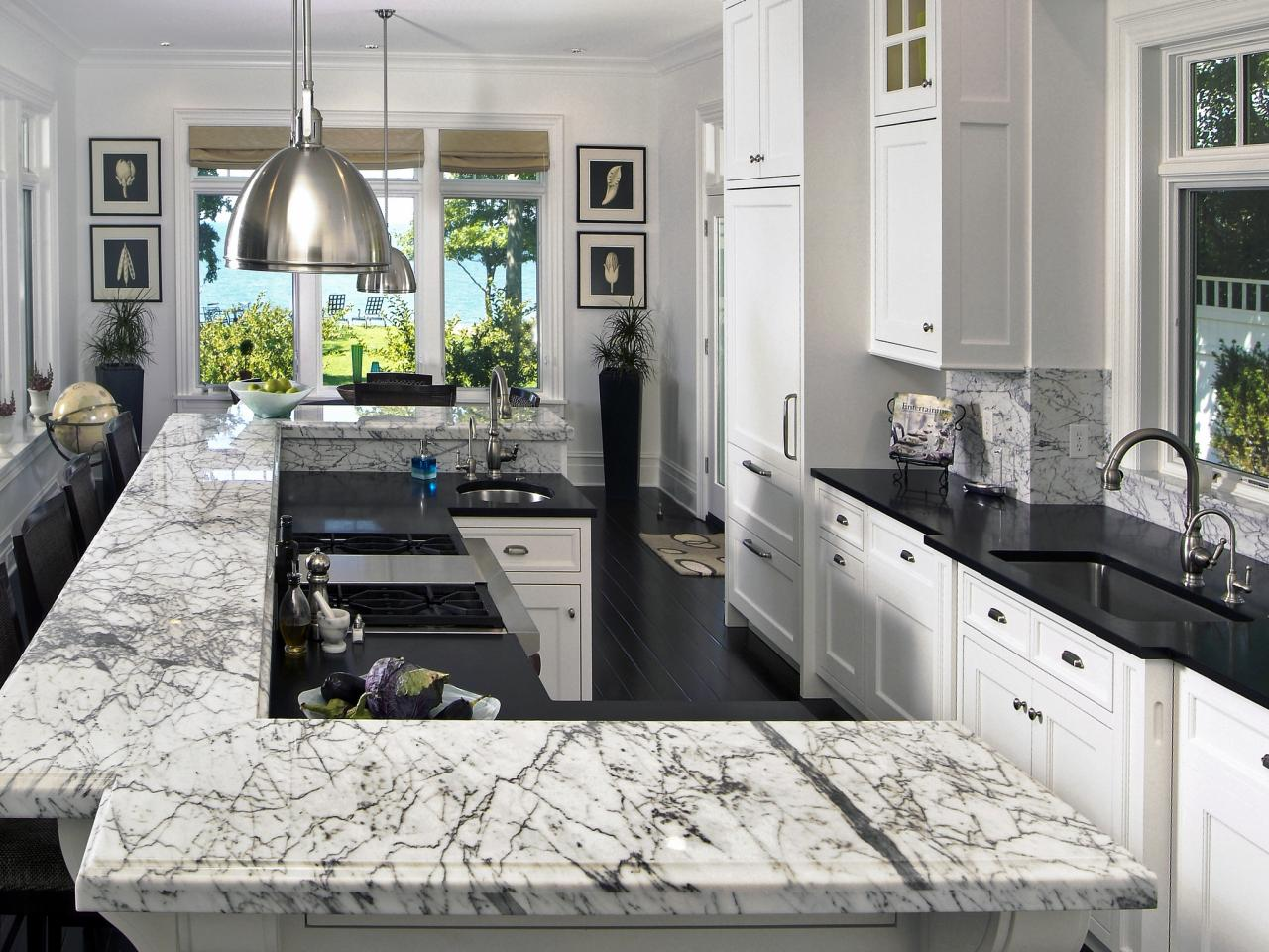 quartz granite or solid surface whats your perfect kitchen countertop surface inexpensive kitchen countertops Image credit Marble Granite