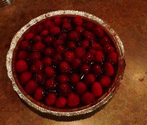 Chocolate Raspberry Ganache Pie