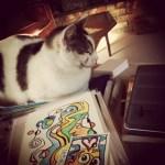 "My ""art helper"", Mouse."